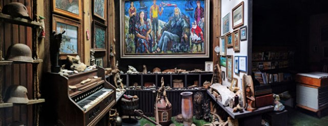 Studio museum of local artist in Nida who worked to preserve traditional folk art like the pagan burial markers