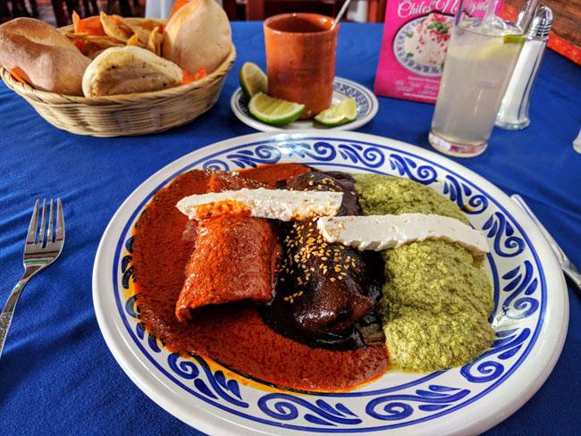 Mole sampler, Puebla, Mexico