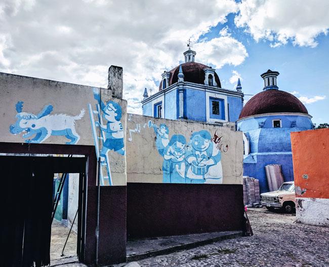 Colorful Xanenetla neighborhood, Puebla