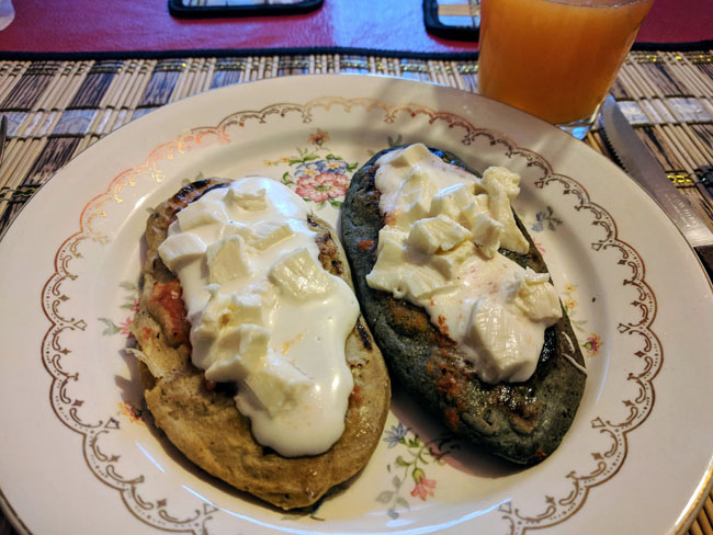 Tasty tlacoyos for breakfast at my homestay