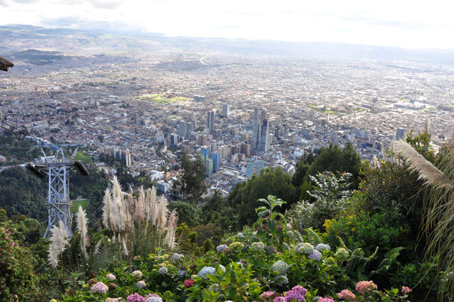 View over Bogotá from Mount Monserrate