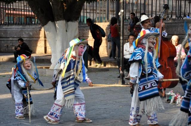 Danza de los Viejitos (Dance of the Old Men, mostly performed by children), Morelia, Mexico