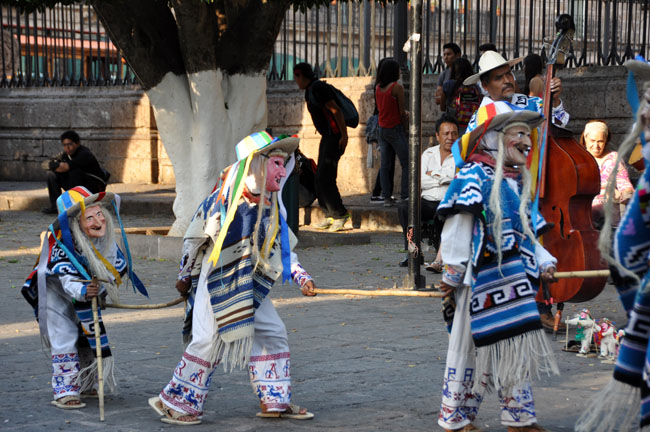 Danza de los Viejitos (Dance of the Old Men, mostly performed by children), Morelia, Mexico
