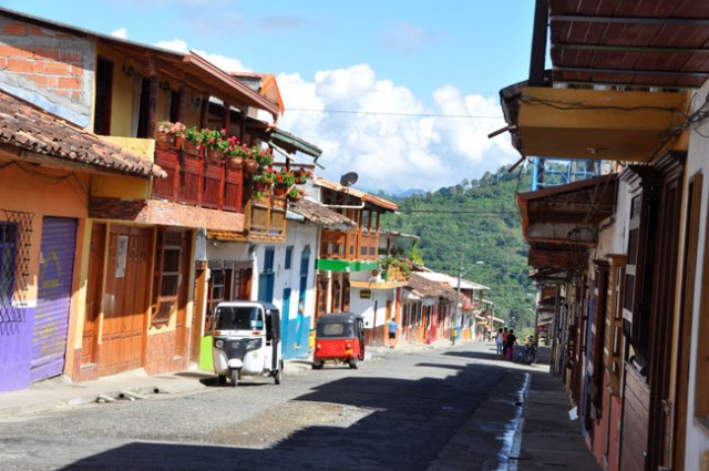 Typical street, Jardín, Colombia