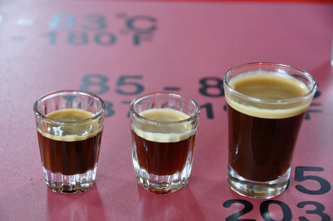Taste test, coffee tour, Hacienda Guayabal