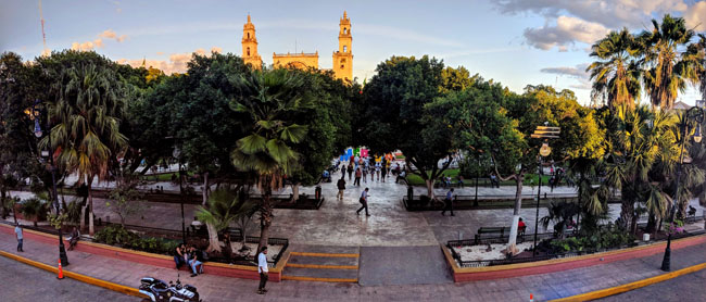 Mérida's main plaza