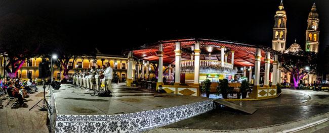 Musicians, zócalo (main plaza), Campeche - best places to visit Yucatan peninsula