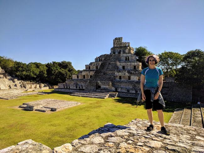 Edzná Maya archaeological site, Campeche - Yucatan Mexico ruins