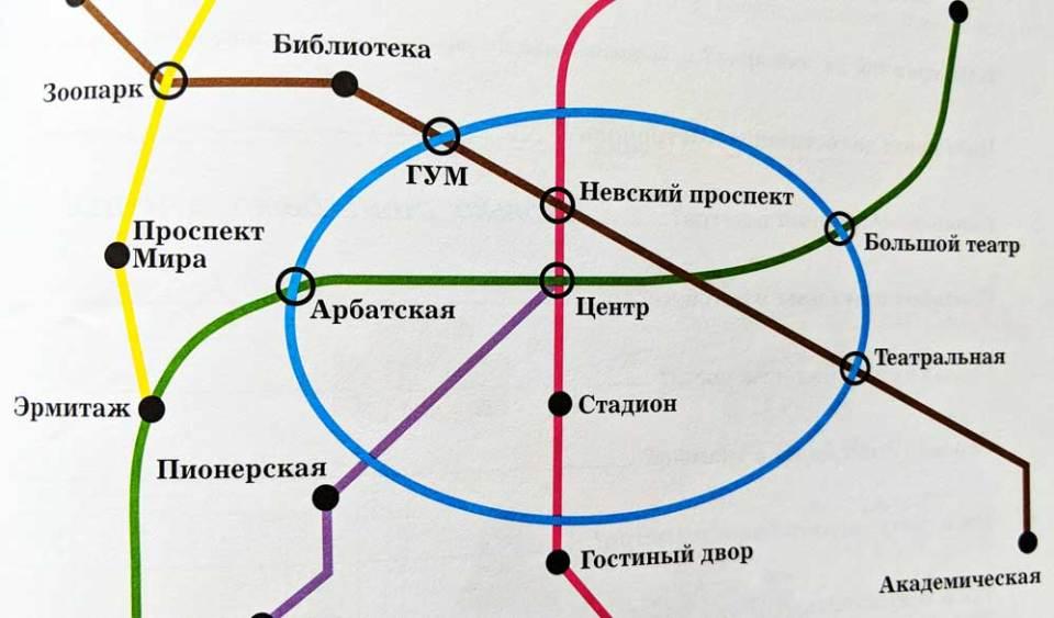 St. Petersburg metro map in Russian