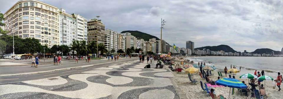 Copacabana on a cloudy day