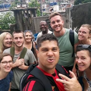 Educational favela tour of Vidigal (photo courtesy of our guide, Leo)