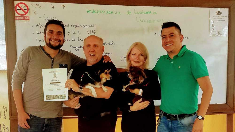 Don and Deborah with teachers from SISAI - Xela Guatemala Spanish school