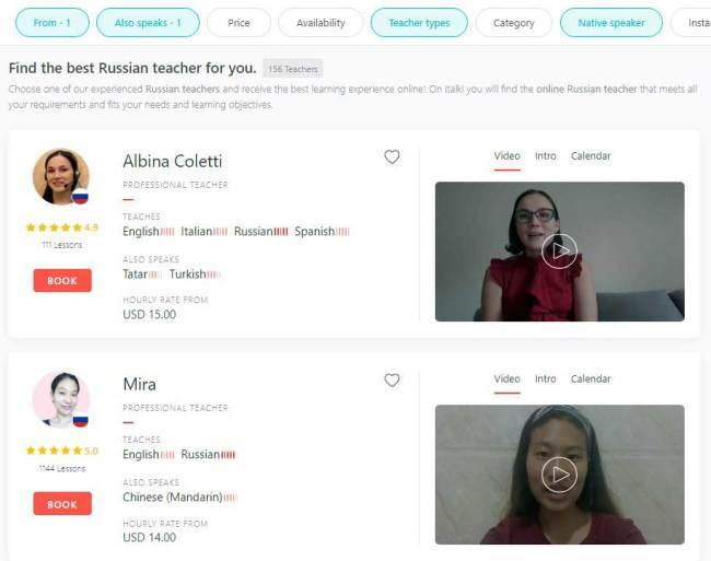 Russian Classes on iTalki - earn to speak Russian