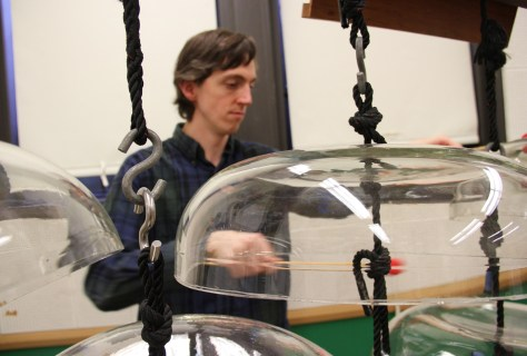 Charles Corey with Cloud-Chamber Bowls - Photo by Maggie Molloy