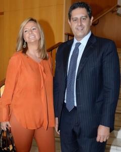 Giovanni Toti con la moglie