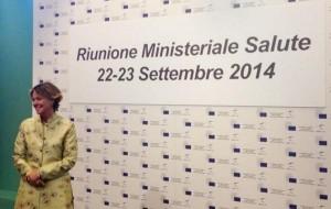 il ministro Beatrice Lorenzin a Milano al vertice informale UE su Ebola