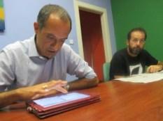 Da sinistra il direttore Francesco Graziadio con il giornalista Paplo Petrasso