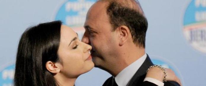 Angelino Alfano e Rosanna Scopelliti (photo Ansa/Ferrari