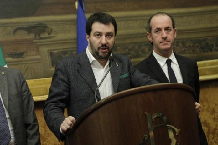Elezioni regionali in Veneto -  Matteo Salvini con Luca Zaia