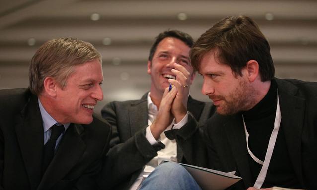Cuperlo Renzi e Civati ai tempi delle primarie nel Pd