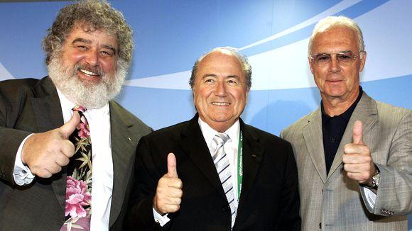 Chuck Blazer, Sepp Blatter e Franz Beckenbauer
