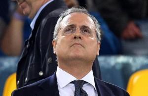 Il presidente della Lazio, Claudio Lotito, in una immagine del 15 aprile 2013.