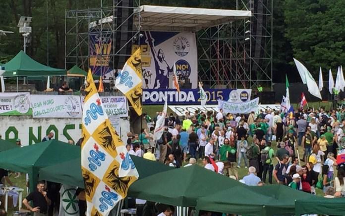 Il raduno della Lega a Pontida 2015