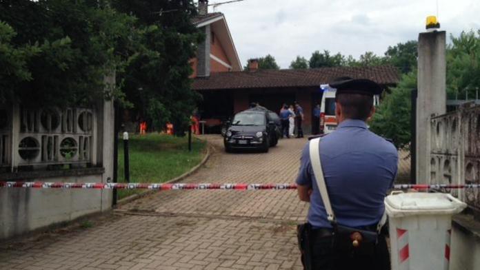 La villa di Patrizio Piatti, il pensionato ucciso dai ladri nella frazione San Lorenzo, vicino Alba, nel Cuneese