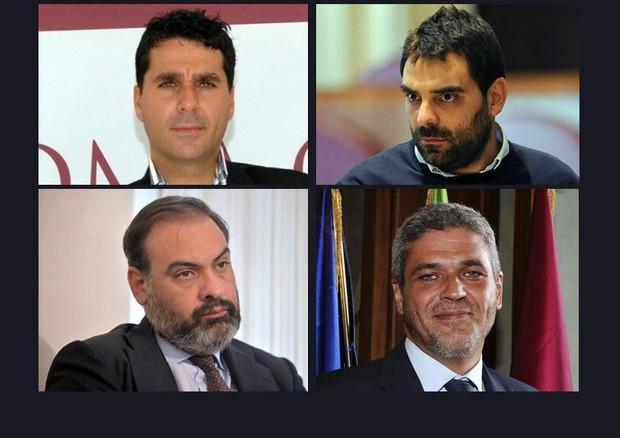 Dall'alto in senso orario Giordano Tredicine, Daniele Ozzimo, Luca Gramazio e Mirko Coratti  - Nuovo arresto per Buzzi