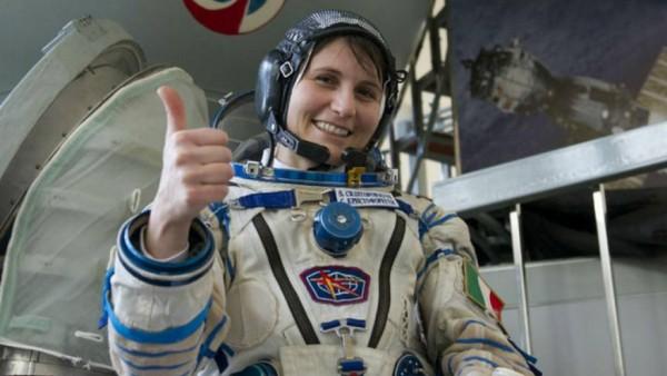 Samantha Cristoforetti nella stazione Iss