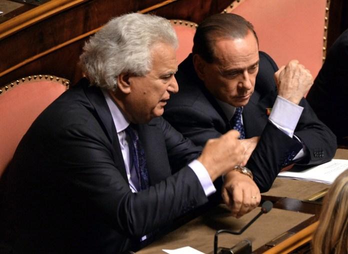 Silvio Berlusconi e Denis Verdini (Ansa/Ferrari)