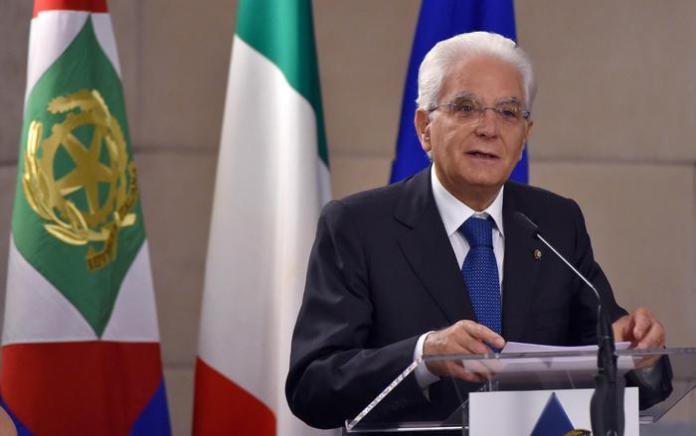 Il capo dello Stato Sergio Mattarella all'incontro con gli ambasciatori