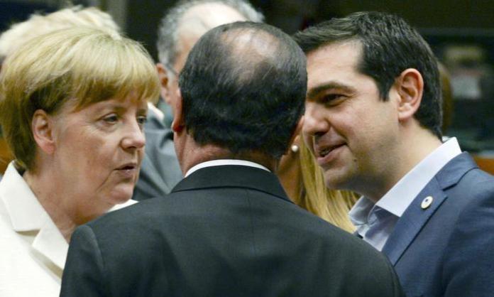 Merkel, Hollande e Tsipras Ansa Ap