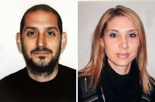 da destra la vittima Maria Paola Marzo e l'assassino Sergio Pagano, suicidatosi