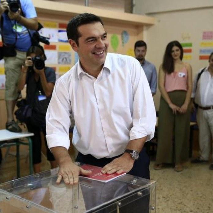 Il leader di Syriza Alexis Tsipras (Ansa/Ap)