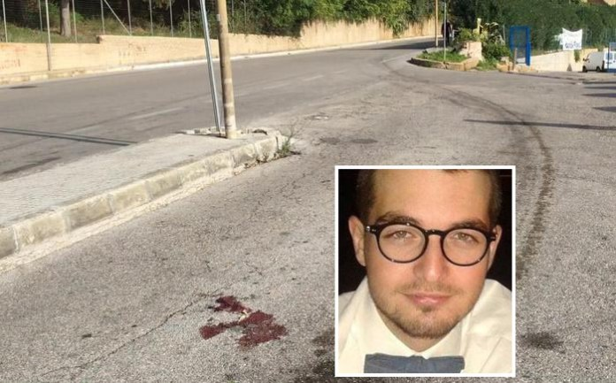 il luogo dell'incidente Nel riquadro la vittima Andrea De Nigris morto nell'incidente a Brindisi