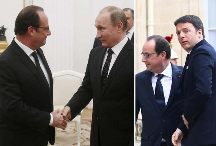 """Alleanza anti Isis Francia - Russia. """"Intervenire subito"""". Renzi: """"Risposta culturale"""""""