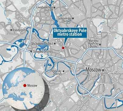 La mappa di Mosca