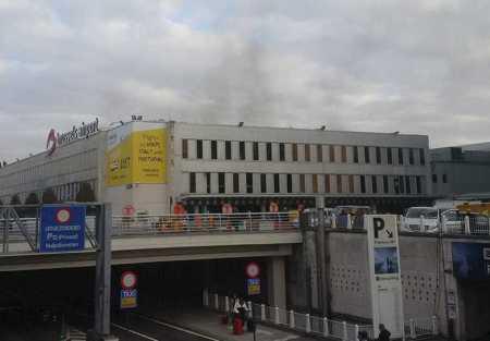 L'esplosione all'aeroporto di Zaventem a Bruxelles