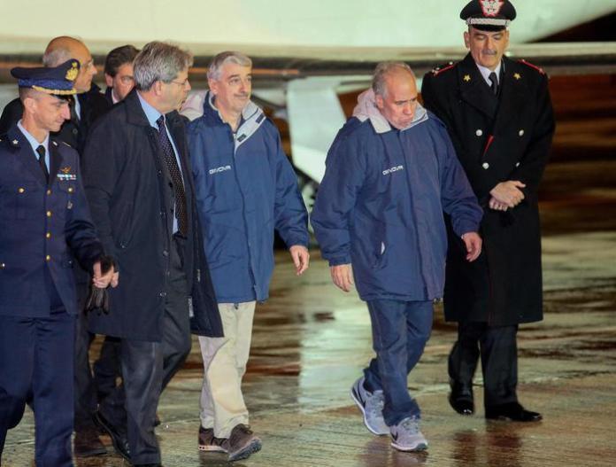 In Italia i tecnici rapiti Gino Pollicardo e Filippo Calcagno