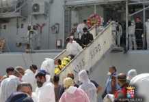 Sbarco di 482 immigrati al porto di Reggio Calabria