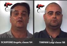 Da sinistra Angelo Scarfone e Luigi Timpani presunti responsabili dell'omicidio