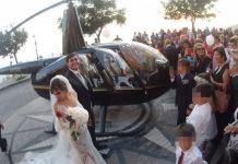 Sposi in elicottero atterrano in piazza a Nicotera. Indaga la Procura