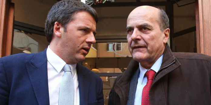 Renzi e Bersani nel 2013