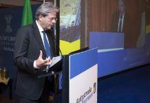 Il presidente del Consiglio Paolo Gentiloni alla cerimonia di consegna dell'Autostrada Salerno Reggio Calabria