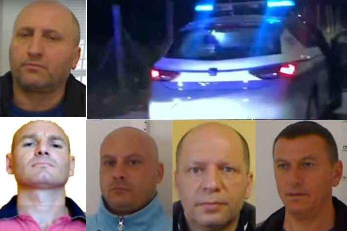 Gli arrestati dalla mobile di Catanzaro per il duplice omicidio Izzo Molinaro