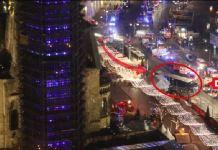 Una immagine di Bild.de mostra una panoramica della scena del mercato di Natale a Berlino