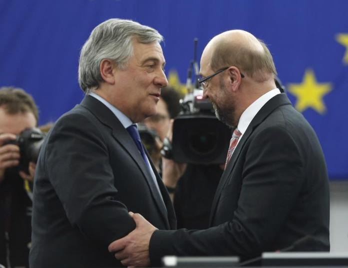 Antonio Tajani e Martin Schulz