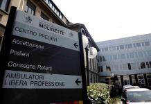 Ospedale Molinette di Torino sospetto caso di meningite