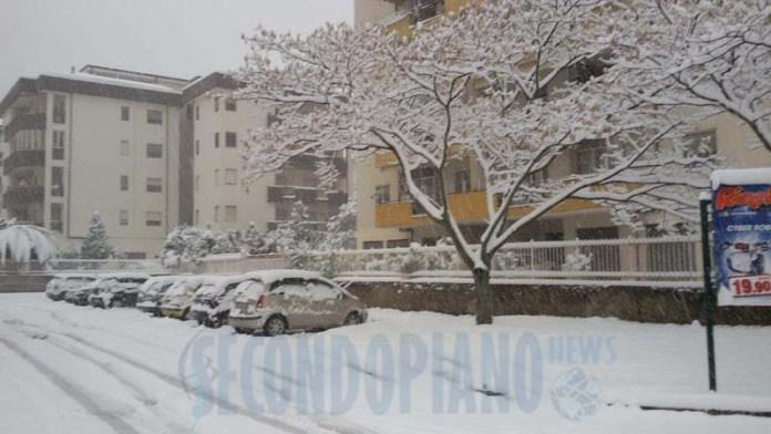 L'abbondante nevicata a Cosenza il 19 febbraio 2016